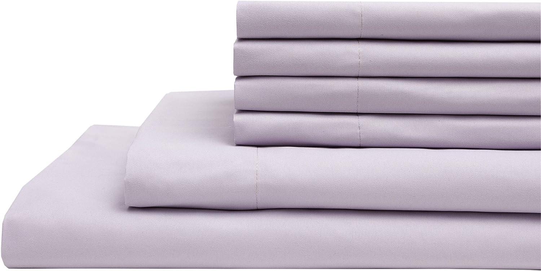 Elite Home Products Inc. Super Soft Wrinkle-Resistant Deep-Pocket Microfiber Solid Sheet Set, Purple, Full