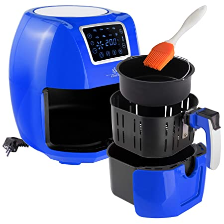 kesser® XXL 5,5 litros freidora de aire caliente freidora | Incluye Panificadora cesta | 1700 W T - Blau: Amazon.es: Hogar
