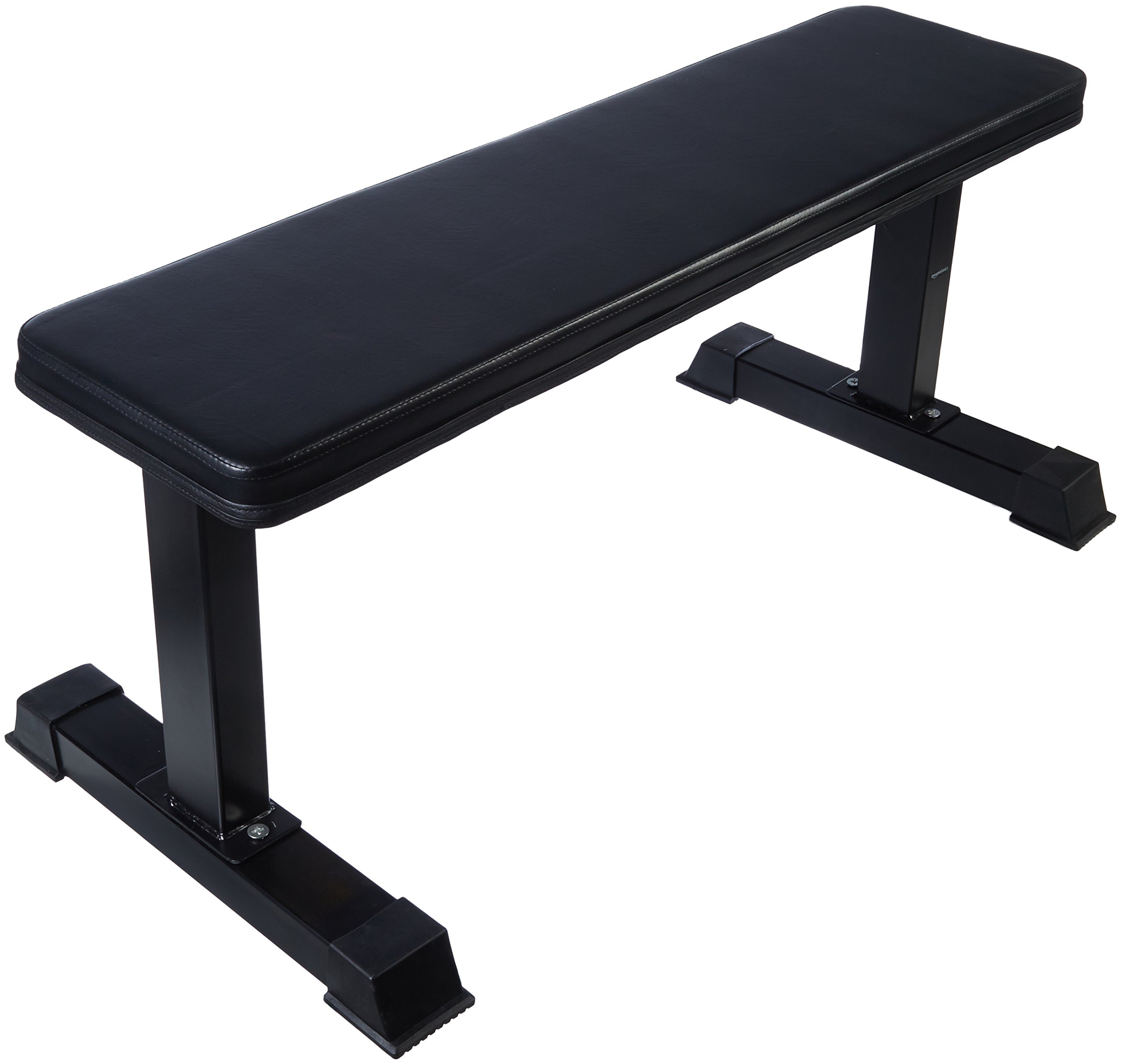 AmazonBasics Flat Weight Workout Exercise Bench 41 x 20 x 11 Inches, Black
