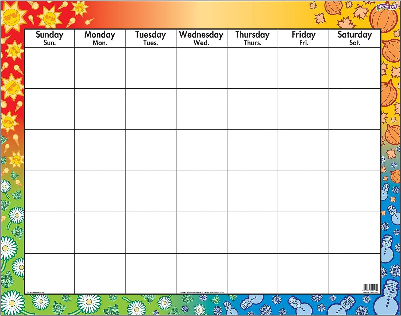 Trend Large Wipe-Off Blank Calendar Chart (TEPT1170)