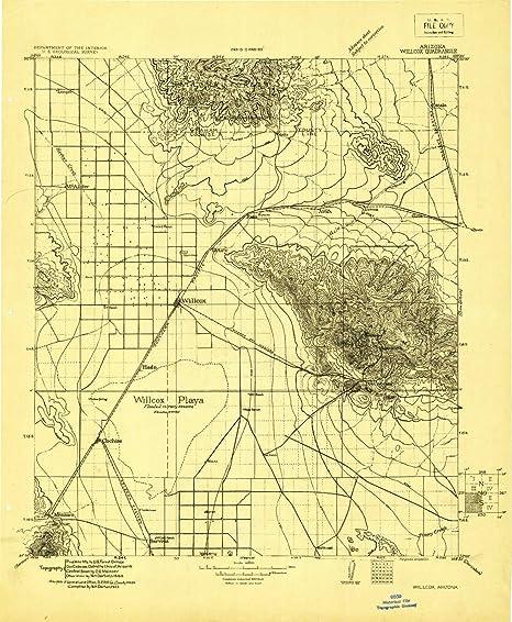 Amazon.com: YellowMaps Willcox AZ topo map, 1:125000 Scale, 30 X 30 ...