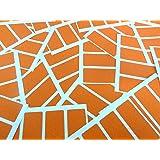 Minilabel - Etiquetas adhesivas rectangulares (para codificación por colores, 50 x 12mm, 80 unidades), color naranja