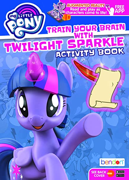 Amazon.com: My Little Pony Twilight Sparkle MLP Augmented Reality Coloring  And Activity Book 45566, Bendon: Toys & Games