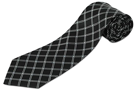 Men's Accessories Next 100% Silk Mens Yellow Check Wide Fit Tie