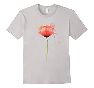 Amazon red poppy flower watercolor t shirt abstract painting mens red poppy flower watercolor t shirt abstract painting art 2xl silver mightylinksfo