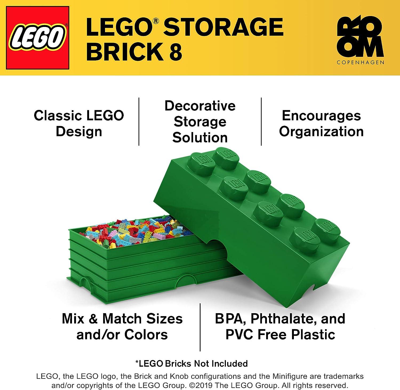 LEGO 40040634 - Caja en Forma de Bloque 8, Color Verde: Amazon.es: Juguetes y juegos
