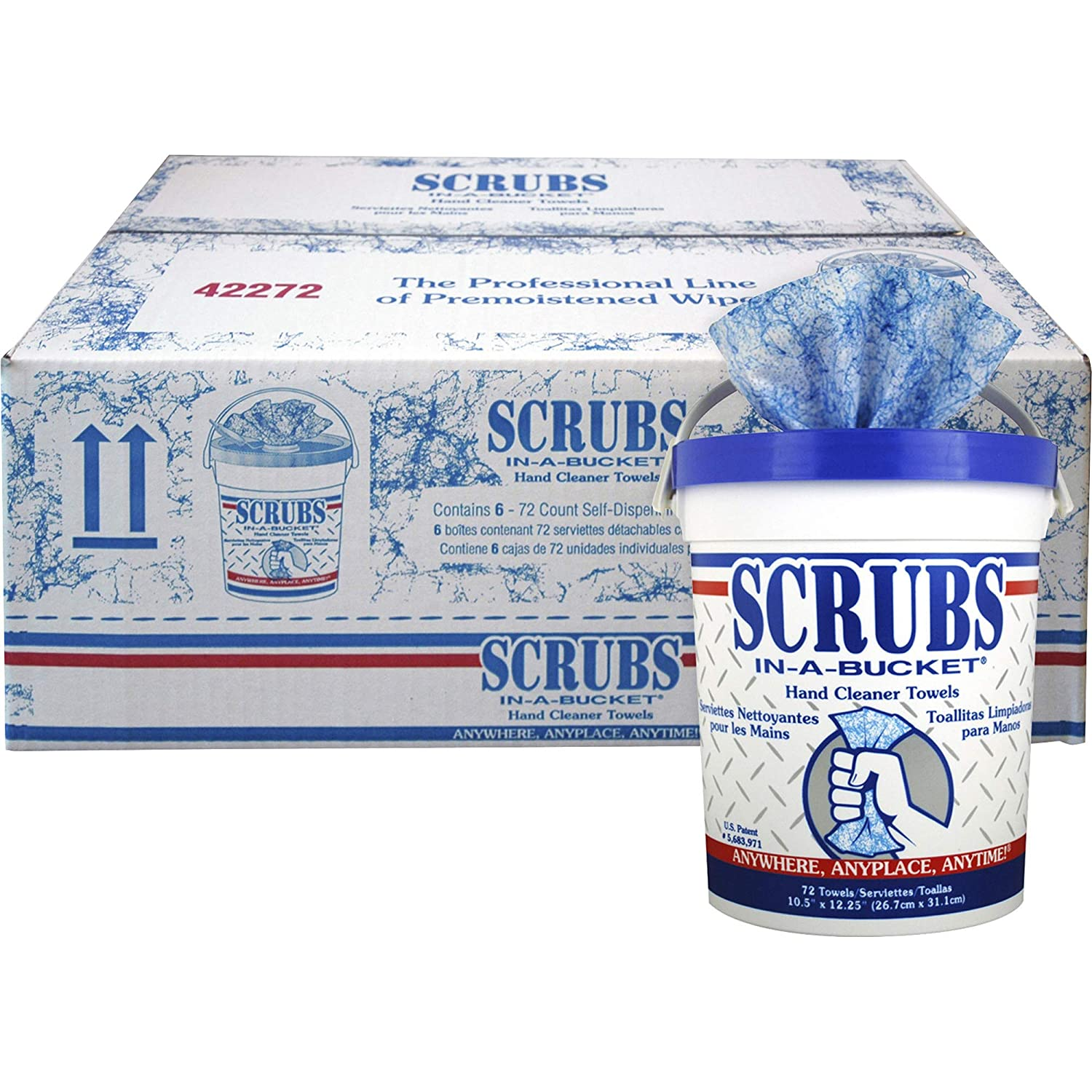 Amazon.com: Scrubs 42272CT in-A-Bucket Hand Cleaner Towels, 6 EA: Industrial & Scientific
