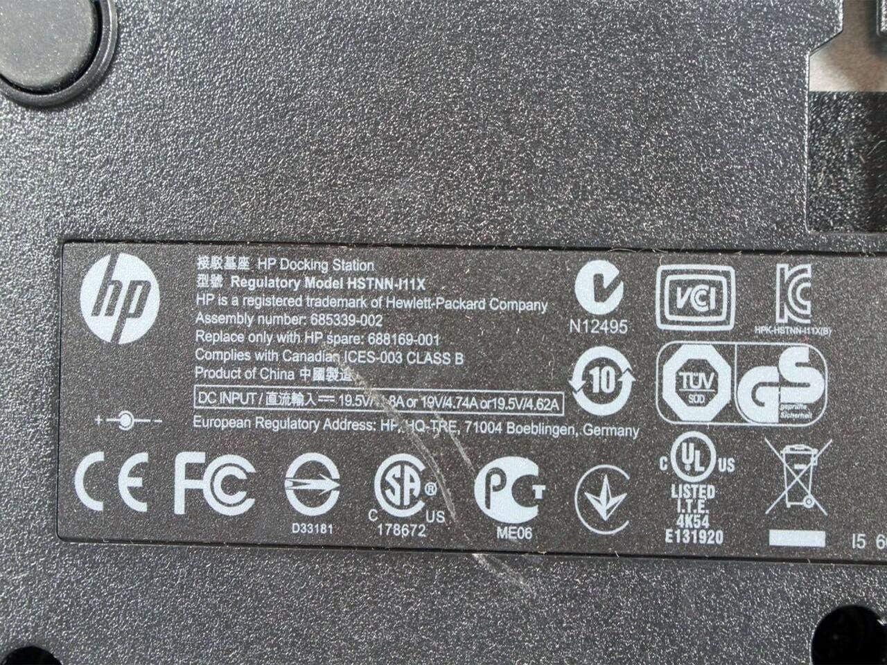 HP Compaq EliteBook 8440p Docking Station HSTNN-I11X 581597-001 HSTNN-111X Renewed
