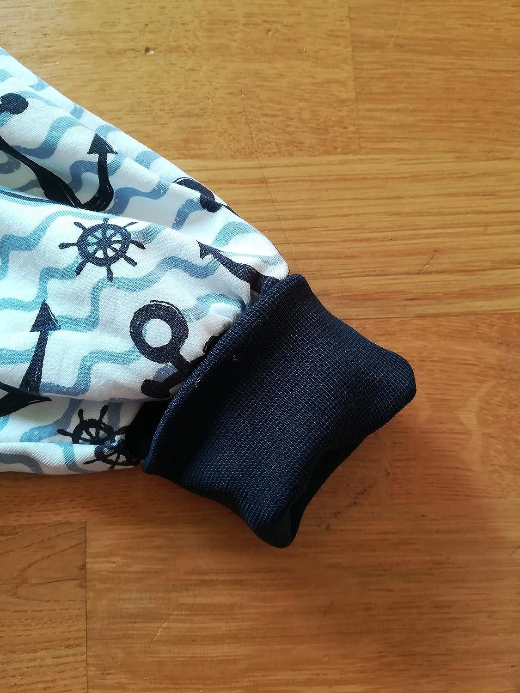 Pumphose Baby Gr/ö/ße 56-68 Anker und Wellen blau