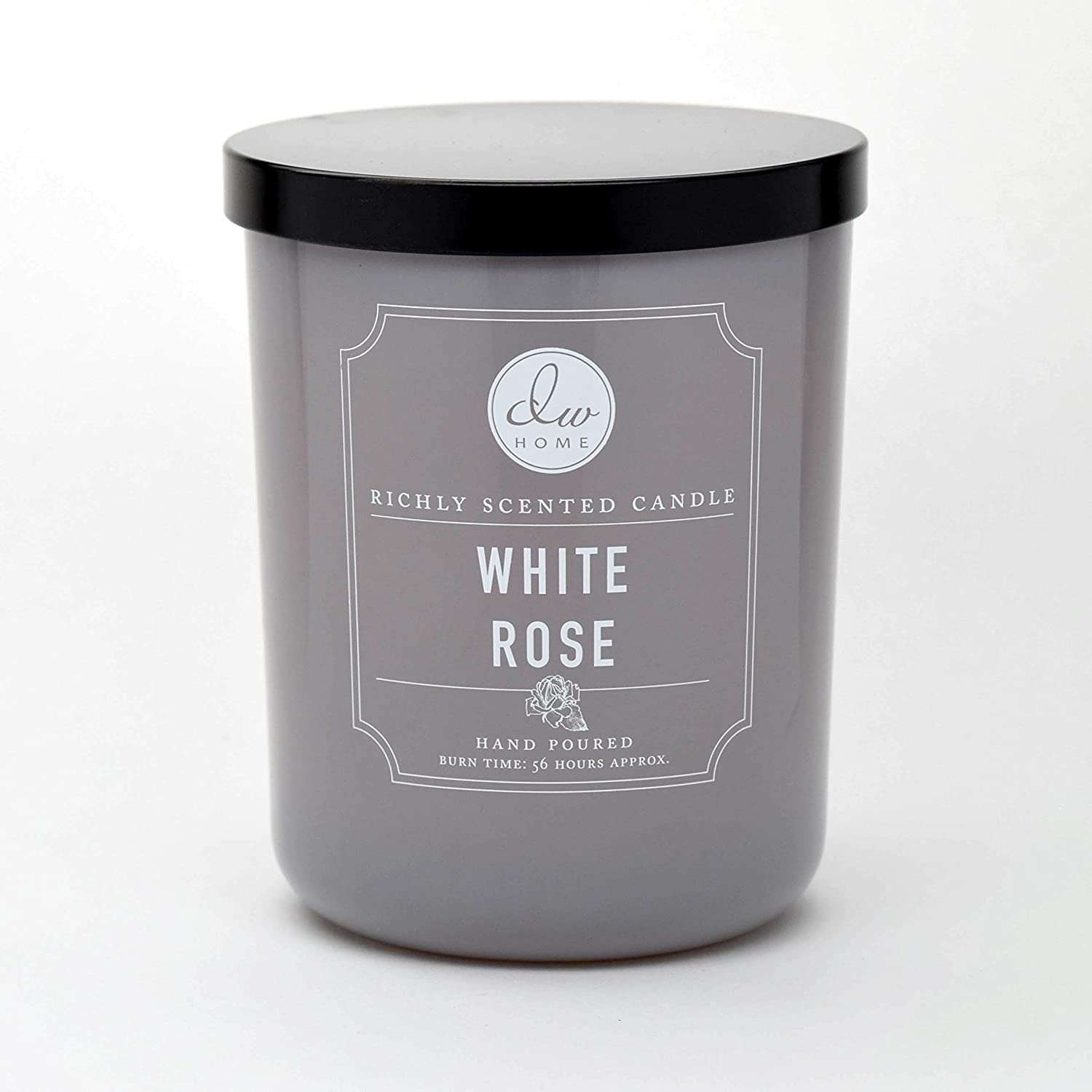 DW Home Large Double Wick Candle, White Rose