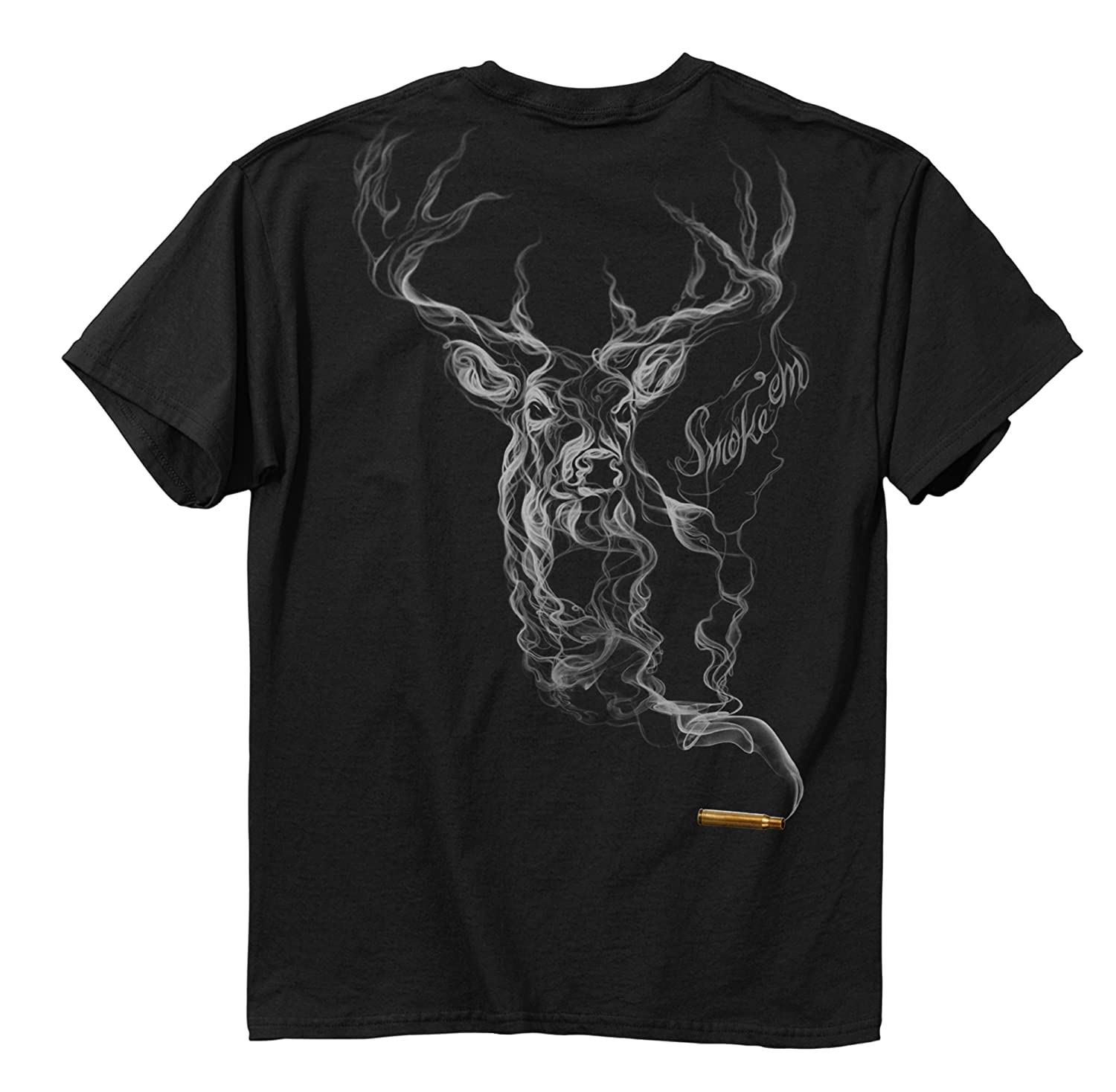 Amazon Buck Wear Men s Smoke Deer T Shirt Sports & Outdoors
