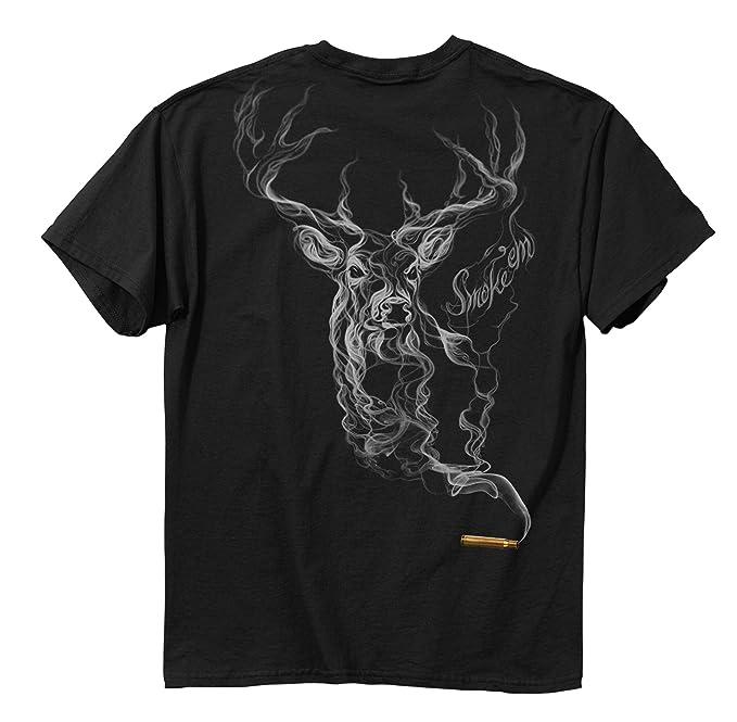 Ciervo Caza Camiseta Bullet Ciervos Humo tee: Amazon.es: Ropa y accesorios