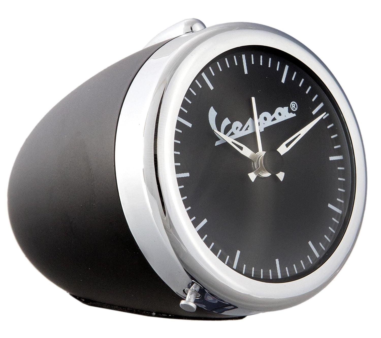 Horloge nostalgique Vespa, design: phare Vespa original, superbe idée cadeau, couleur de chrome/noir