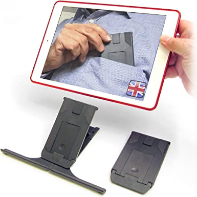 Pocket Adjustable iPad Stand - Ultimate Stable Support Compatible With All  iPads, Tablets, iPhones, Cookery Books & More  For Desktop, Office, Kitchen