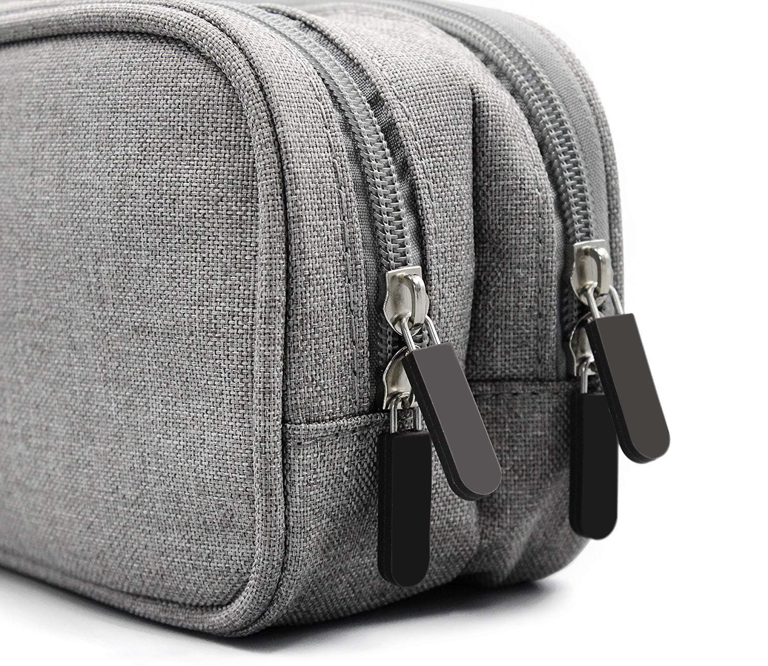 Electronics Accessories Organizer Bag, Double Layer Cable Cord Management Bag, Travel Camping Gear, Small Gadget Pouch for Plugs, Earphone and More(Grey) by YOYL (Image #7)