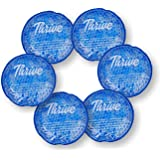 Round Hot & Cold Packs (6 Pack) - Heat or Ice Therapy - Small Flexible Reusable Gel Beads with Cloth Fabric Backing - Great for: Wisdom Teeth, Breastfeeding, Tired Eyes, Face, Headaches, Sinus Relief