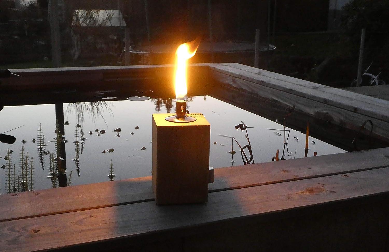 Antorcha de jardín de madera de roble, antorcha de aceite, antorcha de mesa, luz de jardín