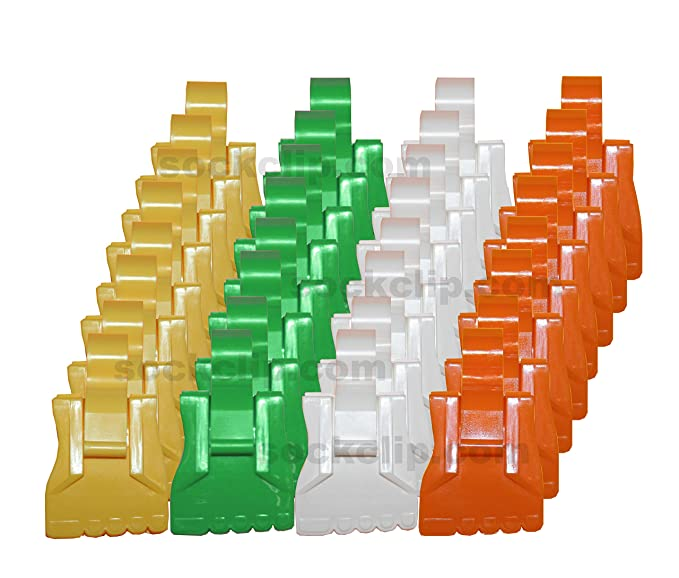 Amazon.com: The Amazing Sock Clip, Spring Assorted 32 Clips, (8 Each of 4 Colors) Made in U.S.A.: Home & Kitchen