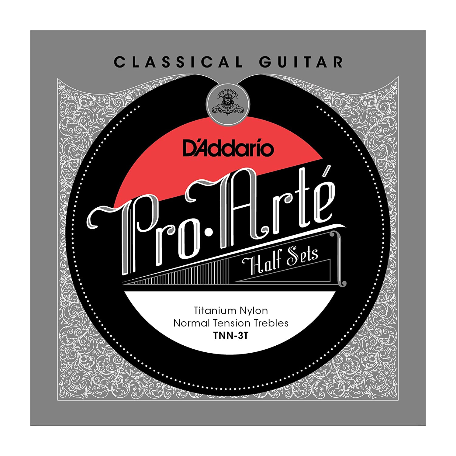D'Addario TNN-3T Nylon Classical Guitar Strings, Medium D' Addario