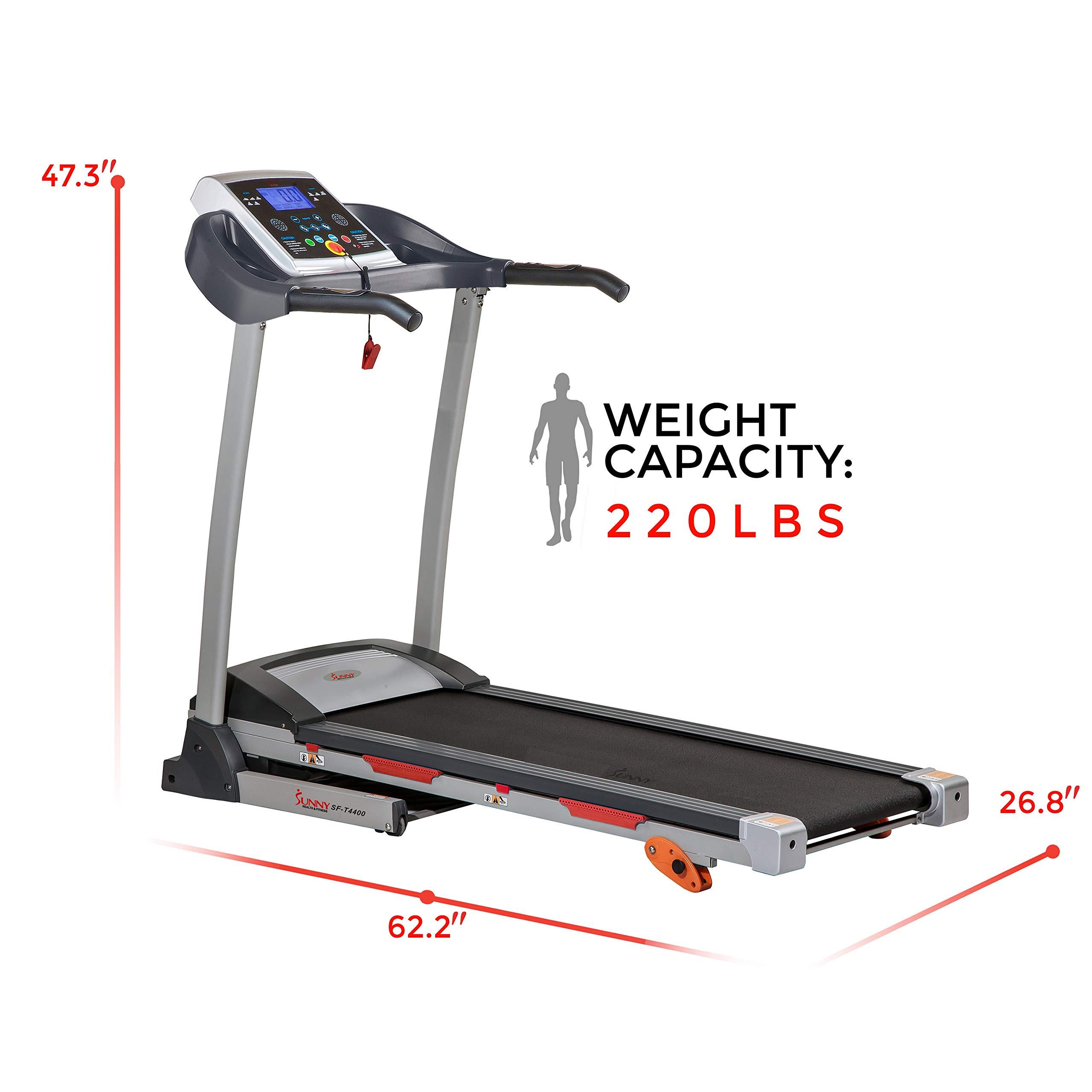 Sunny Health & Fitness Treadmill Folding Motorized Running Machine by Sunny Health & Fitness (Image #14)