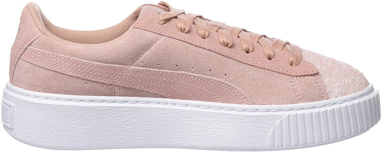 Puma Damen Suede Platform Pebble WN's Sneaker, Beige (Peach Beige White), 41 EU