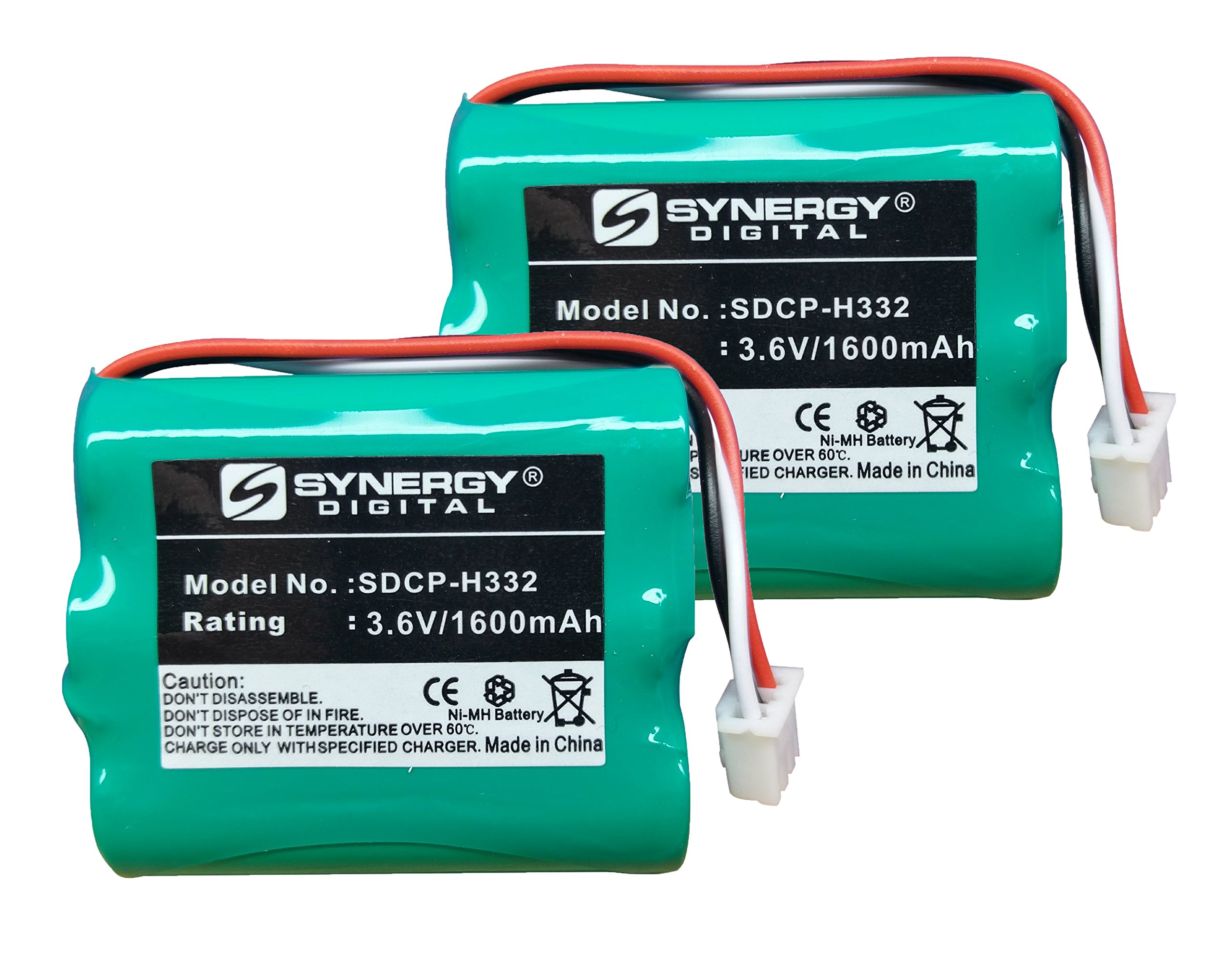 Huawei HOME PHONE CONNECT Cordless Phone Battery Combo-Pack includes: 2 x SDCP-H332 Batteries by Synergy Digital