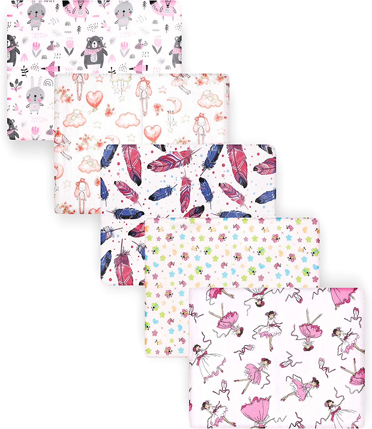 , 80x80 Be Mammy Baby Diaper Sets 31.5x31.5 in 5 Pack BESD003 5 Pack Boy1