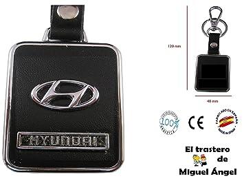 Llavero cuero y metal Hyundai