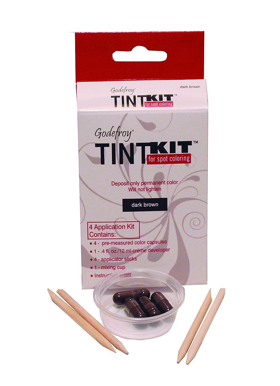Godefroy 4 Applications Tint Kit, Dark Brown, Packaging May Vary
