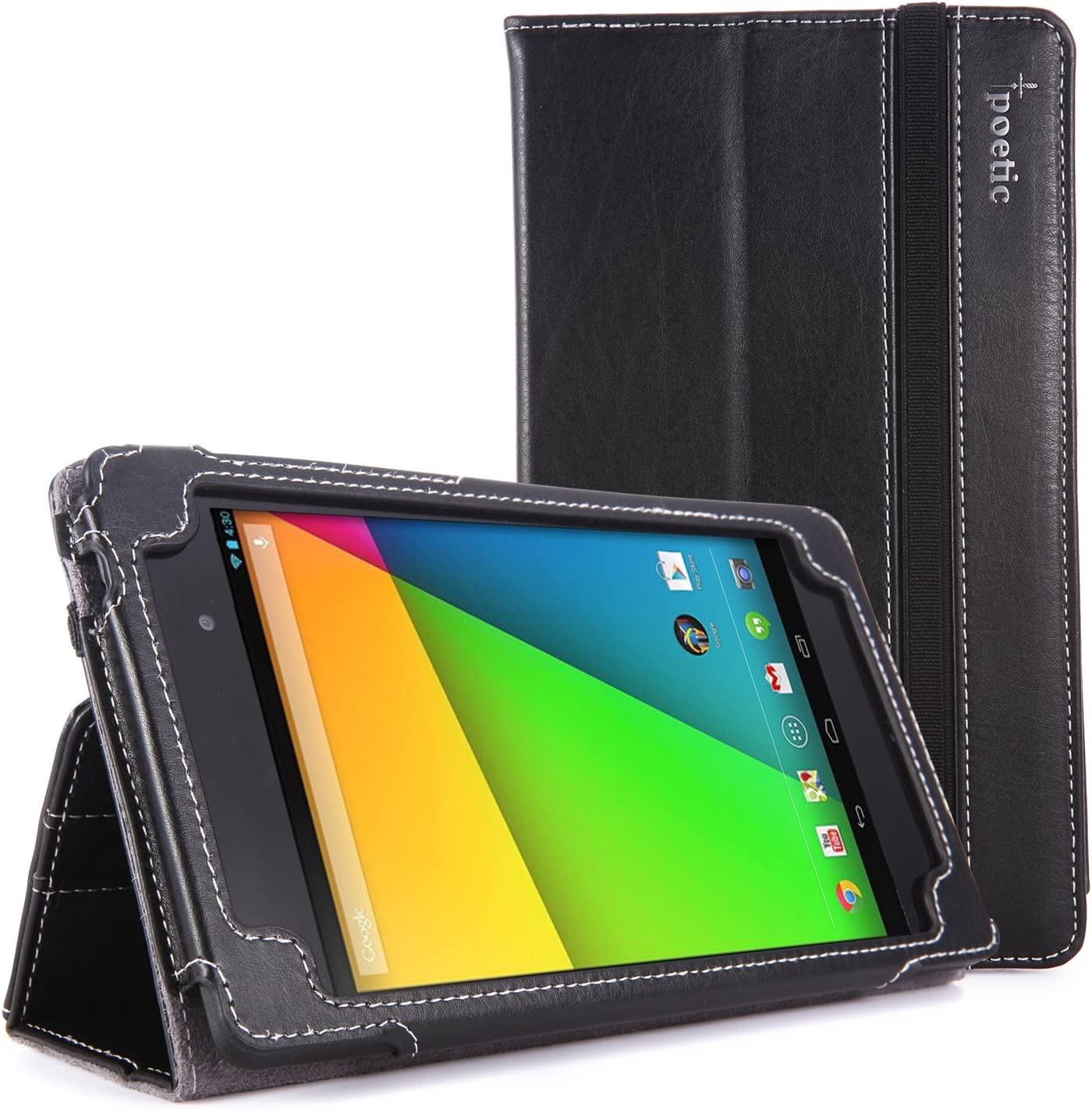 Amazon Com Google Nexus 7 2013 Case Poetic Google Nexus 7 2013 Case Slimbook Series Slimfit Professional Pu Leather Slim Folio Case For Google Nexus 7 2nd Gen 2013 Black 3 Year Manufacturer Warranty From Poetic