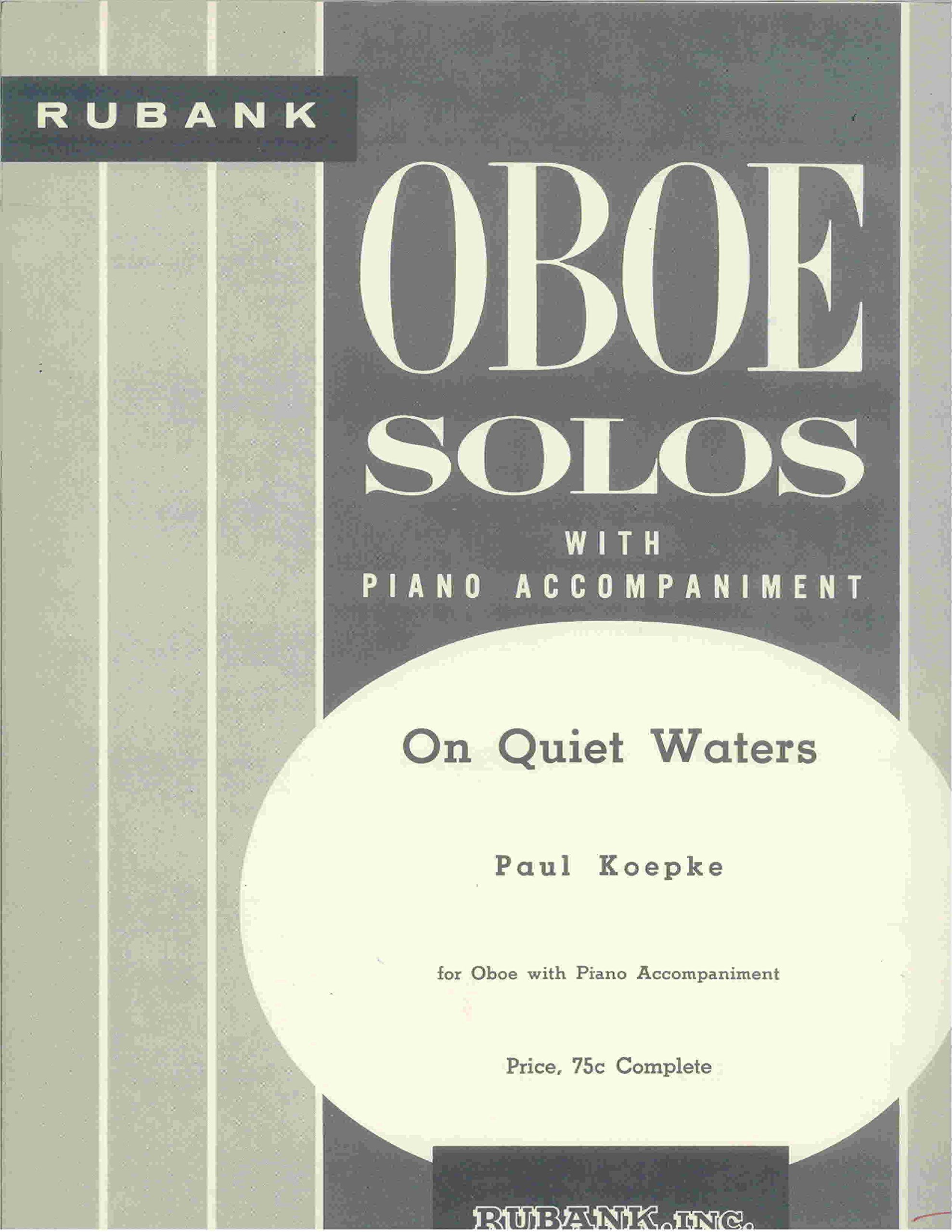 On Quiet Waters - Oboe Solo with Piano Accompaniment