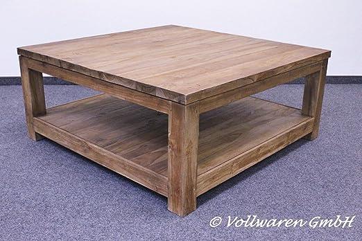 Teca-Town teca mesa cubo SE1-2 100 x 100 muebles de teca antiguo ...