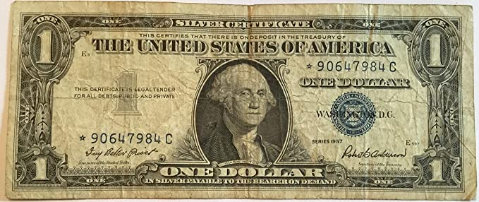 amazon com 1957 series star blue seal one dollar silver