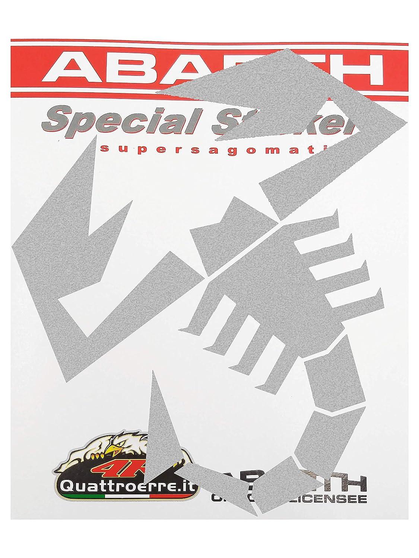 Silver Supershaped Die-cut Sticker Scorpion 120 mm