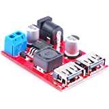 KNACRO DC-DC Converter Buck Step Down Module 36V 24V 12V 9V (6V-40V) to 5V 3A Dual USB Output Car charger Regulators