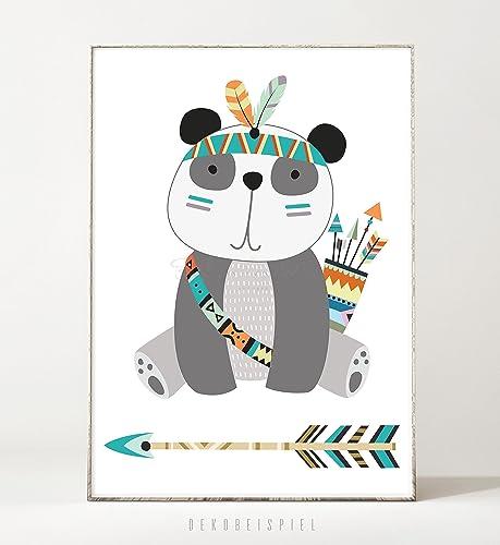 Kunstdruck / Poster TRIBAL: PANDA -ungerahmt- Tier, Bär, Bild ...