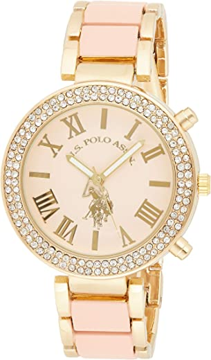 U.S. Polo Assn. Women's Pink Dial Alloy Band Watch - USC40063
