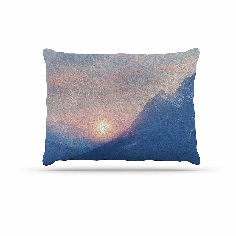 KESS InHouse Viviana Gonzalez Pastel Vibes 08  bluee Pink Dog Bed, 50  x 40
