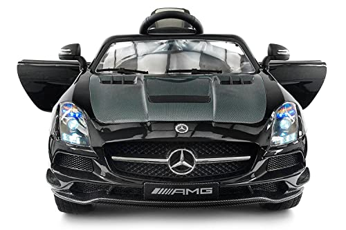 Moderno Kids Carbon BLACK SLS AMG Mercedes Benz Car For Kids