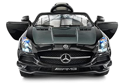Amazon.com: Carbon Black SLS AMG Mercedes Benz Car For Kids, 12V ...