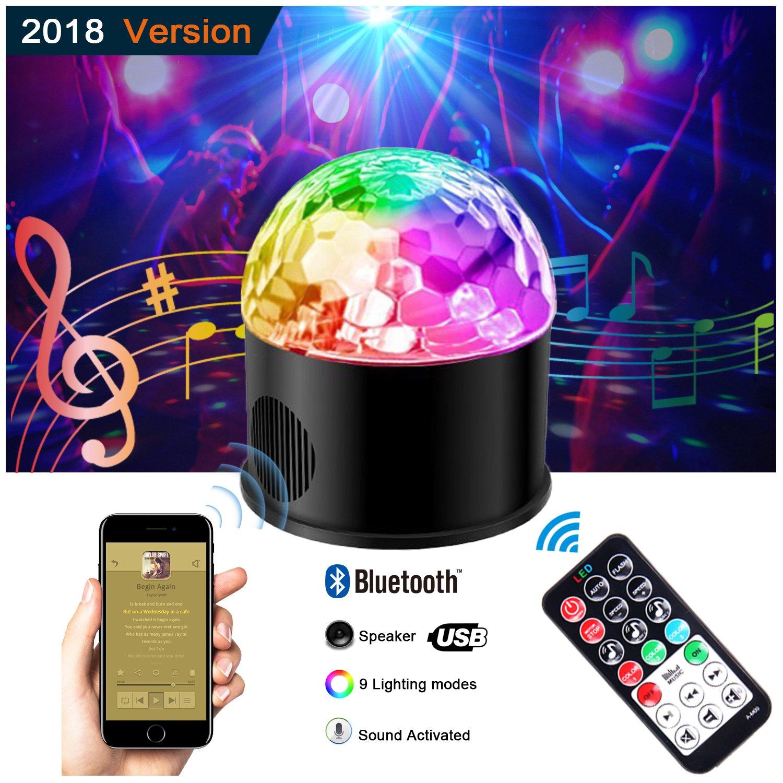 Disco Ball Lights, 9 Colors Rotating LED DJ Light Crystal Magic ...