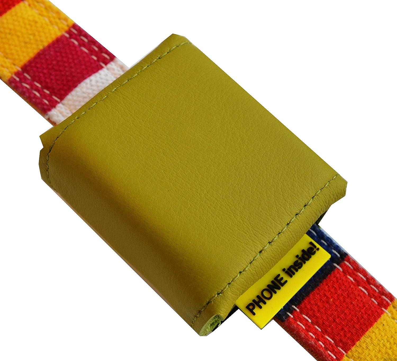 f/ür GPS Tracker 51x41x15mm innen PVC mit Klettverschluss und flachem Steckverschluss Adressfach Hinweislabel Phone Inside! in vielen bunten Farben erh/ältlich Tracker-Tasche Nappaleder