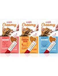 Catit Creamy, Lickable Cat Treat, Natural, Tasty, 15 Pack
