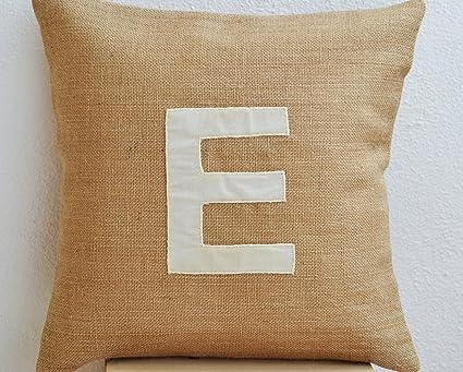 Amazon Customized Monogram Throw Pillow Covers Burlap Pillow Custom Monogrammed Throw Pillow Covers