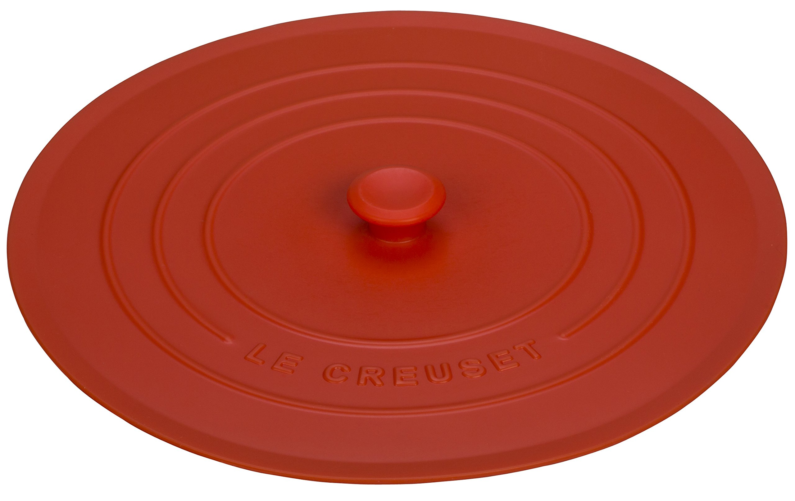 Le Creuset of America Silicone Lid, 8'', Flame