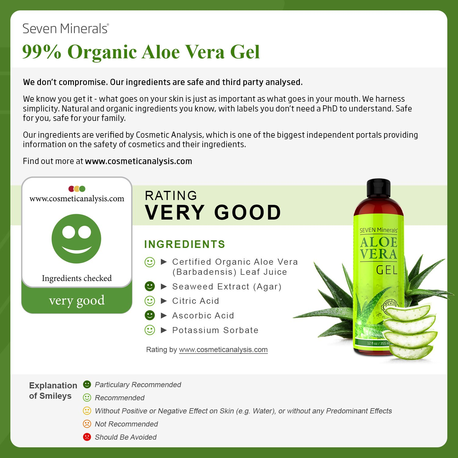 Organic Aloe Vera Gel With 100 Pure From Freshly Leaving Me A Positive Feedback Is Always Appreciated Cut Plant Not Powder No Xanthan So It Absorbs Rapidly Sticky Residue