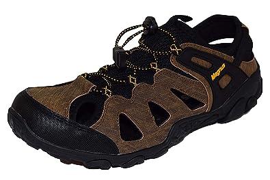Outdoor Herren Trekking Sandalen Wander Schuhe Leder wN0n8PkXO