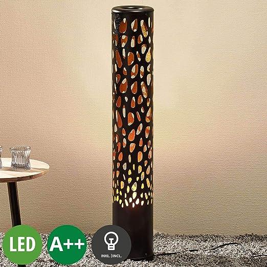 LED Lámpara de pie Organic (Moderno) en Negro hecho de Plástico ...