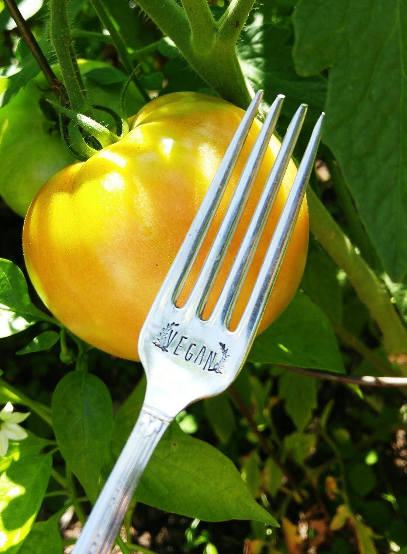 Vegan Engraved Fork Hand Stamped Fork Healthy Living Friends Not Food