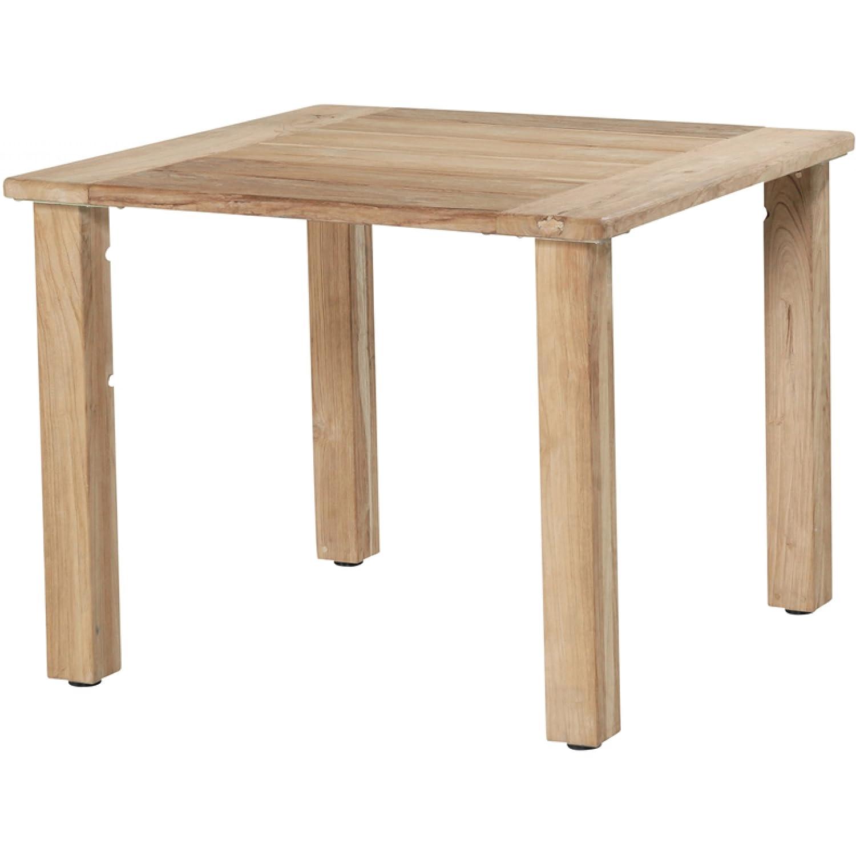 4Seasons Outdoor Casa Tisch 90 x 90 cm recycletes Teakholz Beistelltisch